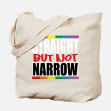 Straingt-But-Not-Narrow-blk Tote Bag