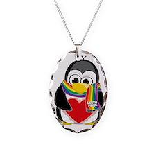 LGBTQ-Pride-Penguin-Scarf Necklace
