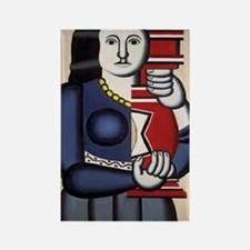 Leger Woman holding a vase 78iPad Rectangle Magnet