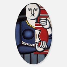 Leger Woman holding a vase 78iPad Sticker (Oval)
