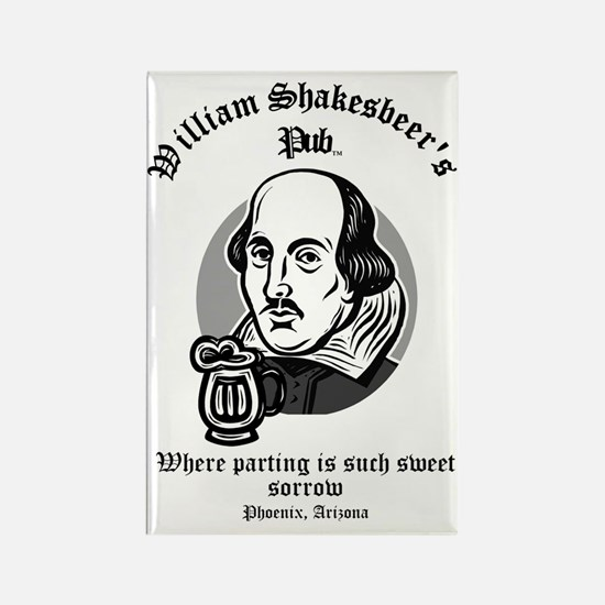 William Shakesbeer Parting is Sor Rectangle Magnet
