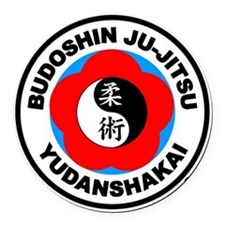 BJJY4in Round Car Magnet