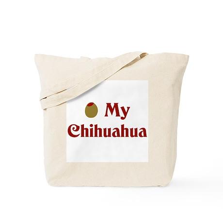 Olive My Chihuahua Tote Bag