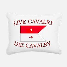1st Squadron 4th Cav cap Rectangular Canvas Pillow