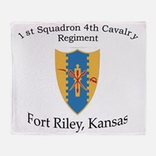 1st Squadron 4th Cav Throw Blanket