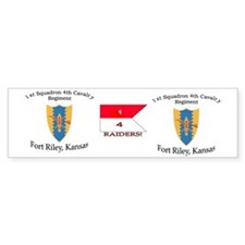 1st Squadron 4th Cav mug Bumper Sticker