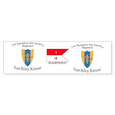 1st Squadron 4th Cav mug Car Sticker