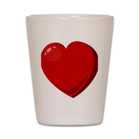 valentineheart2 Shot Glass