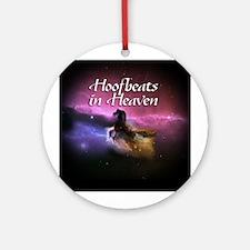 Hoofbeats In Heaven Ornament (Round)