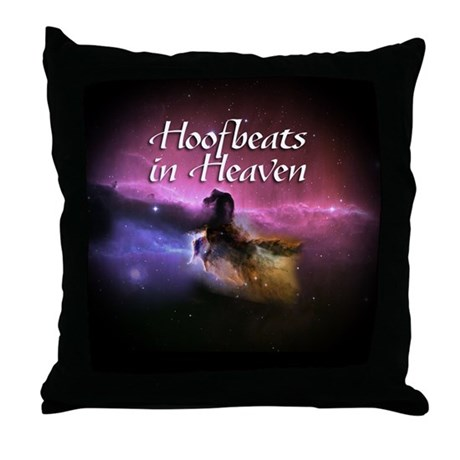 Hoofbeats In Heaven Throw Pillow
