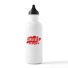 Red Ukulele uke Water Bottle