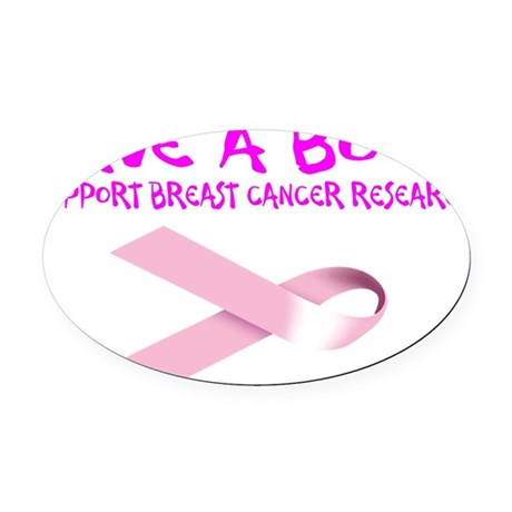 Save A Boob. Support Breast Cancer Oval Car Magnet