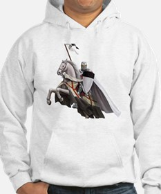 templar on rearing horse coloure Hoodie