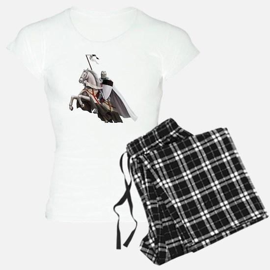 templar on rearing horse co Pajamas