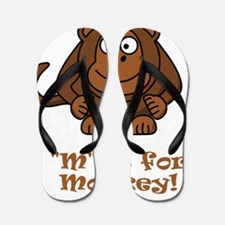M is for Monkey Brown Flip Flops