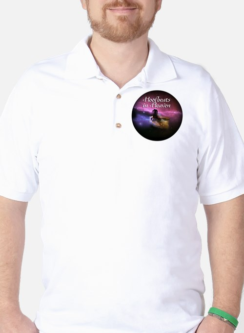 Hoofbeats In Heaven Golf Shirt