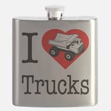I Love Trucks.eps Flask
