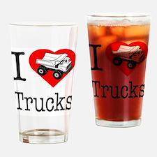 I Love Trucks.eps Drinking Glass