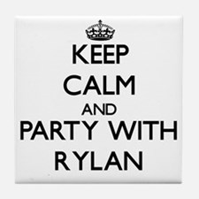 Keep Calm and Party with Rylan Tile Coaster