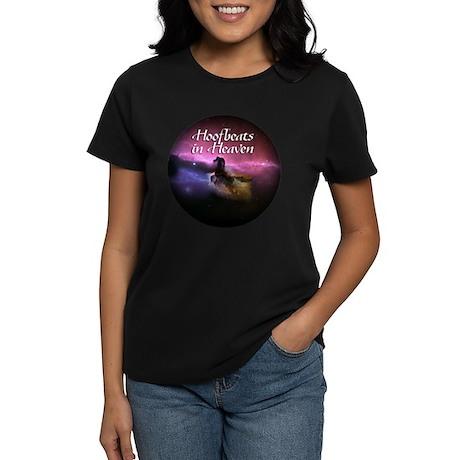Hoofbeats In Heaven Women's Dark T-Shirt