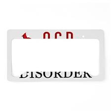 obsessivecardinaldisorder License Plate Holder