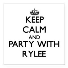 Keep Calm and Party with Rylee Square Car Magnet 3