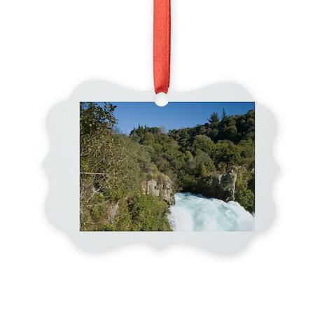 Huka Falls and Waikato River, nea Picture Ornament