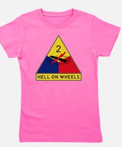 2nd Armored Division - Hell On Wheels Girl's Tee
