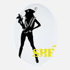 SHE Oval Ornament