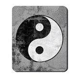 Distressed yin yang Mouse Pads