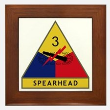 3rd Armored Division - Spearhead Framed Tile