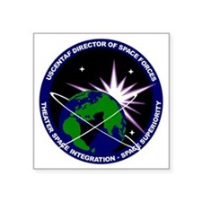 "Director of Space Forces Square Sticker 3"" x 3"""