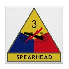 3rd Armored Division - Spearhead Tile Coaster