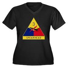 3rd Armored  Women's Plus Size Dark V-Neck T-Shirt