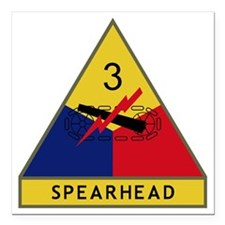 """3rd Armored Division - S Square Car Magnet 3"""" x 3"""""""