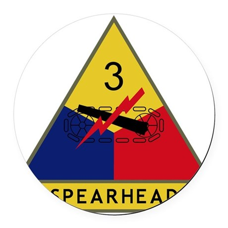 3rd Armored Division - Spearhead Round Car Magnet