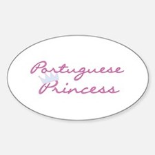 Crown Portuguese Princess Oval Decal