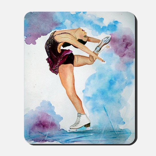 Ice Skate Spin to Perfection Mousepad