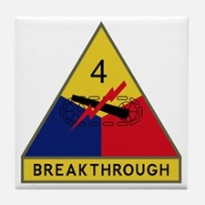 4th Armored Division - Breakthrough Tile Coaster