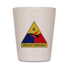 4th Armored Division - Breakthrough Shot Glass