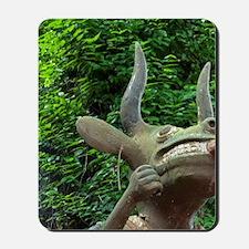 Statue of horned voodoo animist deity in Mousepad