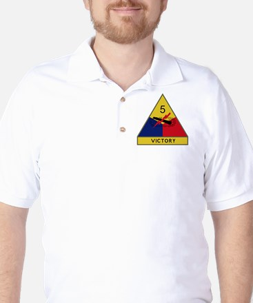 5th Armored Division - Victory Golf Shirt