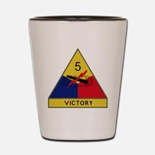 5th Armored Division - Victory Shot Glass