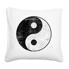 distYinYangT Square Canvas Pillow