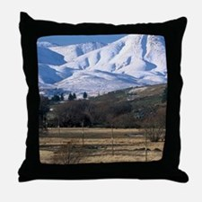 Curling on Frozen Idaburn Dam, Otureh Throw Pillow