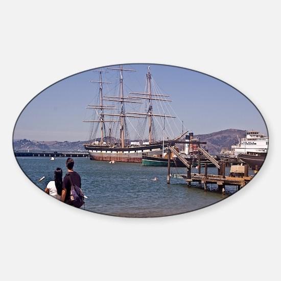 SFBayShipsCov Sticker (Oval)
