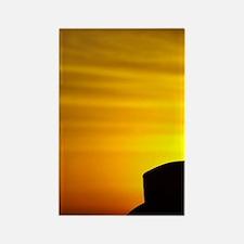 Man in Akubra at Sunrise, Mount B Rectangle Magnet