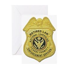 retired law enf officer Greeting Card