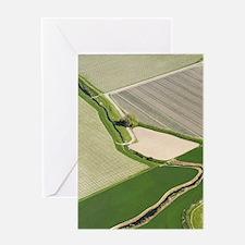 Farmland and Vineyards near Blenheim Greeting Card