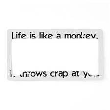 monkey_life_btle1 License Plate Holder